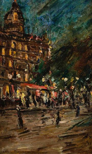 Wall Art - Painting - Constantine Korovine , Coffee The Dome In Paris by Celestial Images