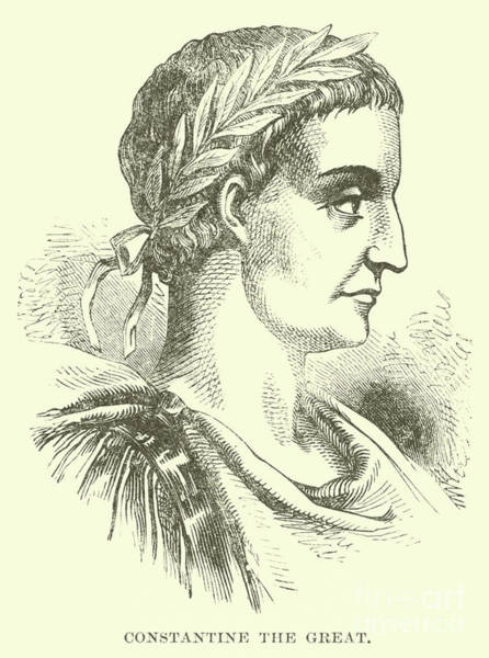 Wall Art - Drawing - Constantine The Great, Illustration  by English School