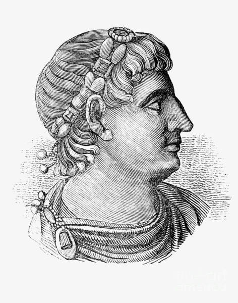 Wall Art - Drawing - Constantine The Great  Roman Emperor  by English School