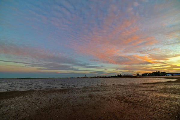 Photograph - Constitution Beach Dramatic Sunset Boston Ma East Boston by Toby McGuire