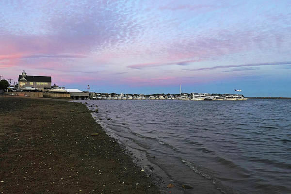 Photograph - Constitution Beach Sunset Red Sky Boston Ma by Toby McGuire