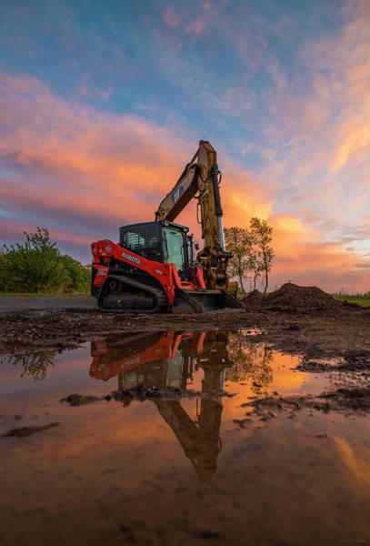 Photograph - Construction Sunset by Mark Papke