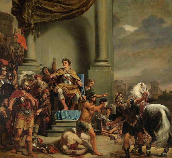 Wall Art - Painting - Consul Titus Manlius Torquatus Orders The Beheading Of His Son, 1664 by Ferdinand Bol