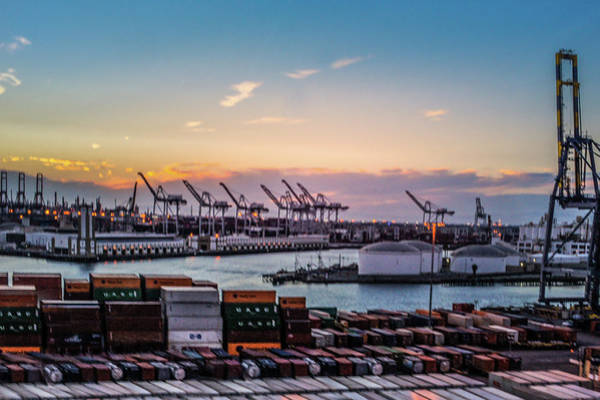 Wall Art - Photograph - Container Harbor Of Long Beach by Art Spectrum