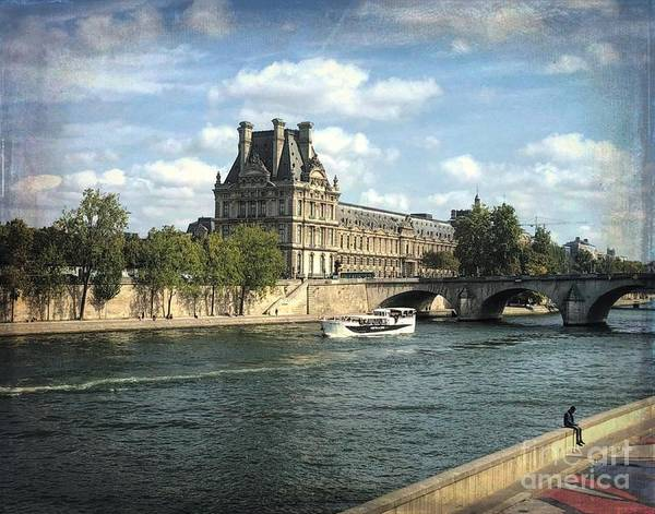 Photograph - Contemplating The Louvre by Luther Fine Art