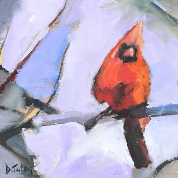Painting - Contemporary Cardinal by Donna Tuten