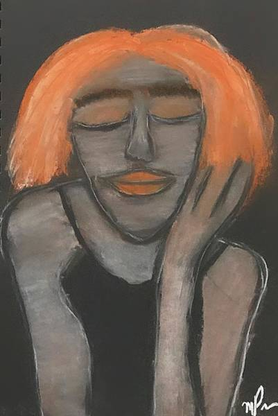 Drawing - Contentment by Mario MJ Perron