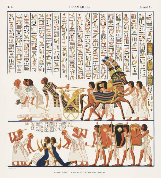 Wall Art - Painting - Continuation And End Of The Second  Fourth Painting From Monuments De L Egypte Et De La Nubie835  1 by Celestial Images