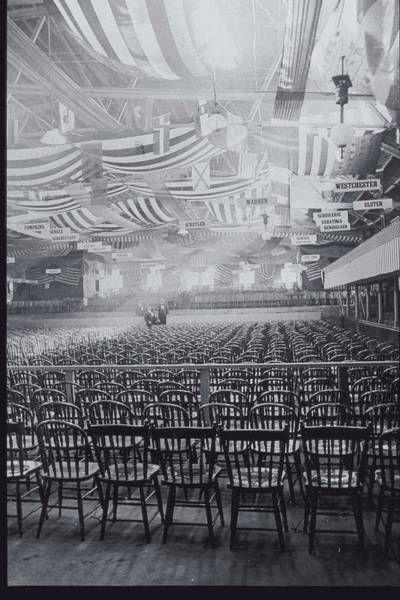 Chair Photograph - Convention Hall With Empty Chairs by Archive Holdings Inc.