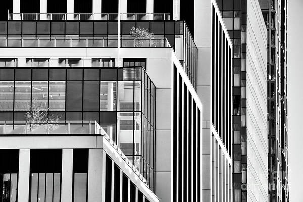 Photograph - Converging Corners Monochrome by Tim Gainey