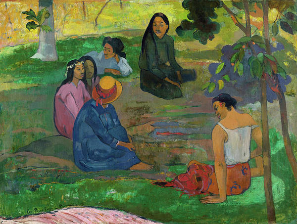 Wall Art - Painting - Conversation, 1891 by Paul Gauguin