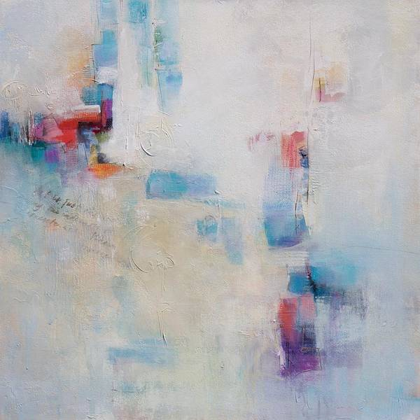 Wall Art - Painting - Conversation, 30x30 by Karen Hale