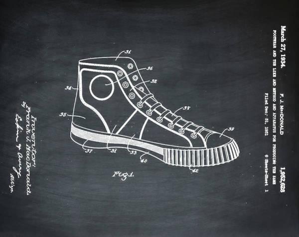 Photograph - Converse Allstar Patent 1934 Chalk by Bill Cannon
