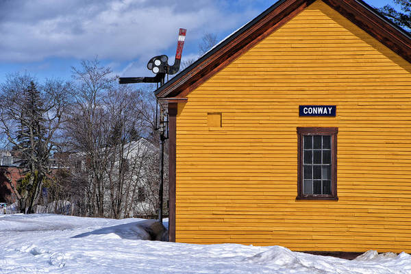 Wall Art - Photograph - Conway Rail Station by Mike Martin