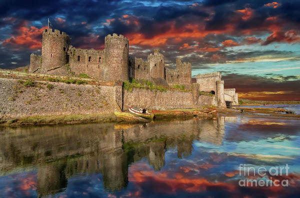 Wall Art - Photograph - Conwy Castle Sunset by Adrian Evans