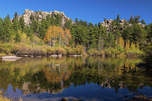 Photograph - Cool Calm Rocky Mountains Autumn Reflections by James BO Insogna
