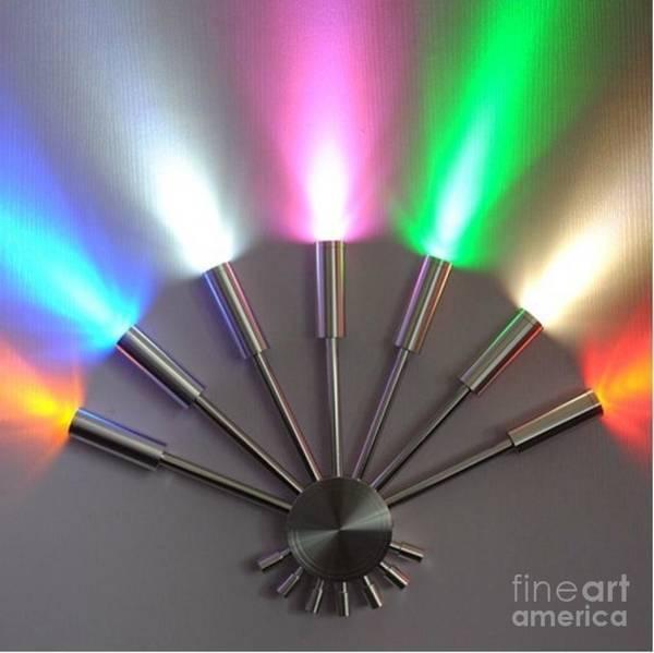 Sculpture - Cool/hot Lighting Great Sconce Color Wheel Wall Light Cool Lighting Cool Wall Lights by Kasey Jones
