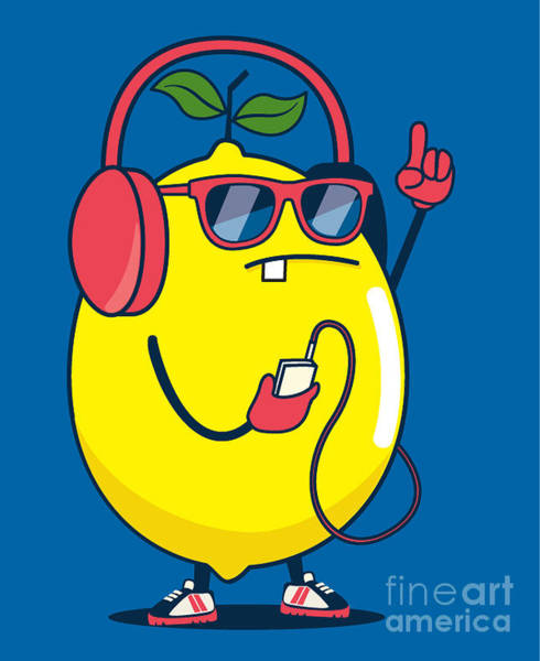 Wall Art - Digital Art - Cool Lemon Character Vector Design For by Braingraph