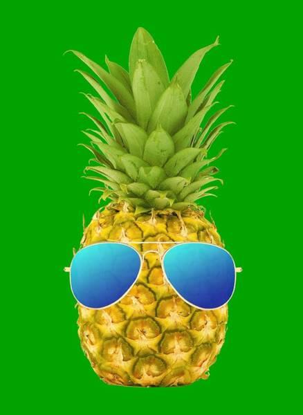 Pineapple Digital Art - Cool Pineapple by Filip Hellman