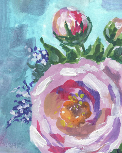 Painting - Cool Pink Flowers Bouquet Floral Impressionism  by Irina Sztukowski