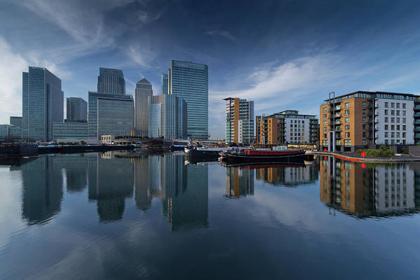 Canary Wharf Photograph - Cool Reflections by Paul Shears