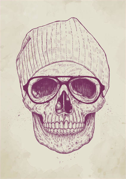 Wall Art - Drawing - Cool Skull by Balazs Solti