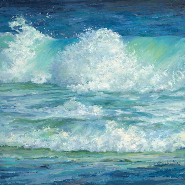 Wall Art - Painting - Cool Splash Diptych Left by Laurie Snow Hein