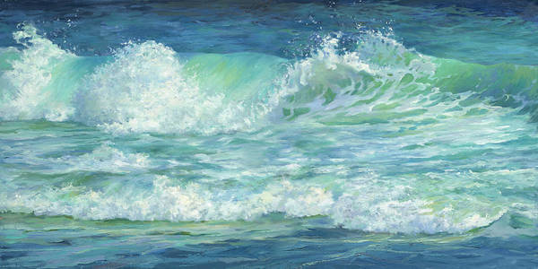 Wall Art - Painting - Cool Splash Stiched by Laurie Snow Hein
