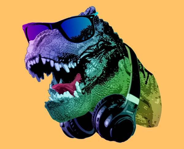 Wall Art - Digital Art - Cool T-rex by Filip Hellman