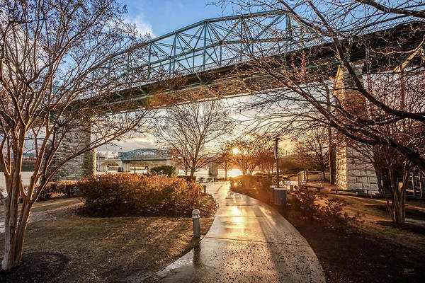 Photograph - Coolidge Park Path At Sunset by Steven Llorca