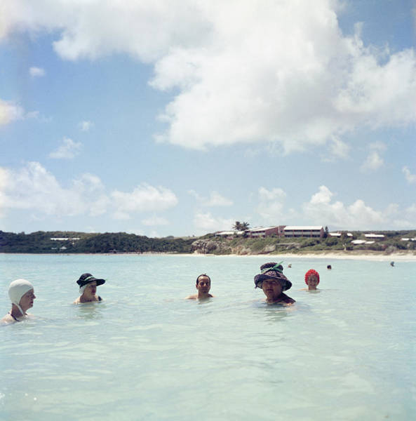 Photograph - Cooling Off In Antigua by Slim Aarons