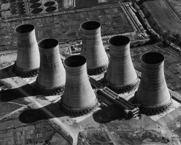 Cooling Tower Photograph - Cooling Towers by Fox Photos