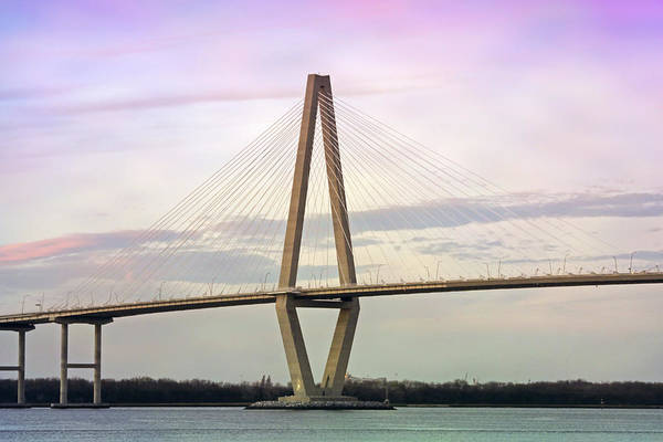 South Carolina Photograph - Cooper River Bridge At Sunset by Daniela Duncan