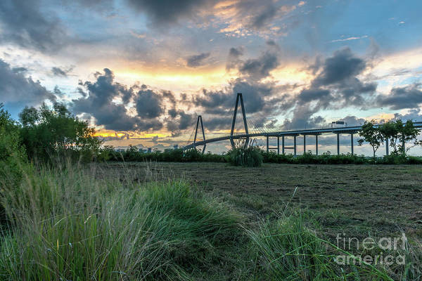 Photograph - Cooper River Bridge - Charleston South Carolina by Dale Powell