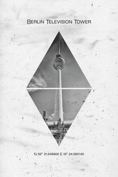 Wall Art - Photograph - Coordinates Berlin Television Tower by Melanie Viola