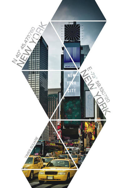 Wall Art - Photograph - Coordinates New York City Times Square  by Melanie Viola