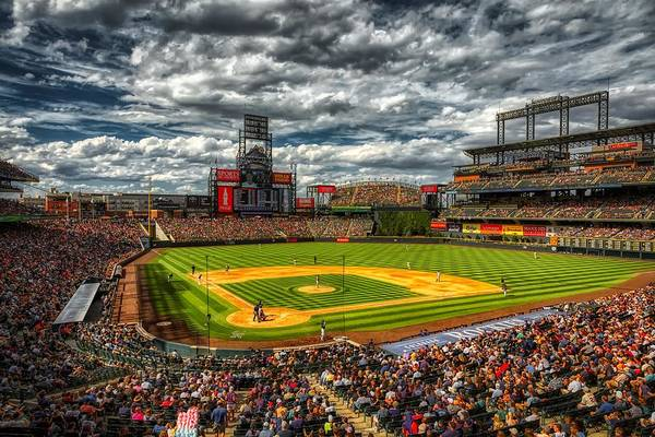 Wall Art - Photograph - Coors Field Colorado Rockies Denver Baseball by Movie Poster Prints