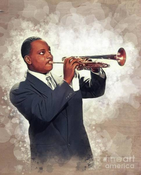 Wall Art - Painting - Cootie Williams, Music Legend by John Springfield