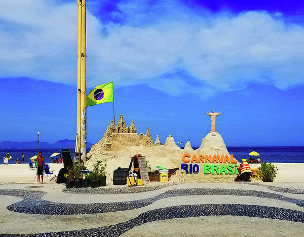 Photograph - Copacabana Sand Castle by Roger Bester