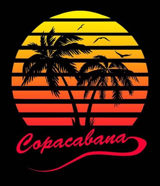 Wall Art - Digital Art - Copacabana Sunset by Filip Hellman