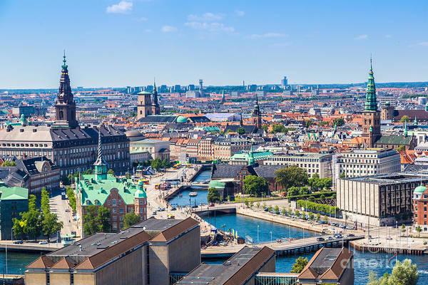 Exterior Wall Art - Photograph - Copenhagen City, Denmark, Scandinavia by S-f