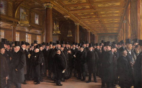 Trader Painting - Copenhagen Stock Exchange - Digital Remastered Edition by Peder Severin Kroyer