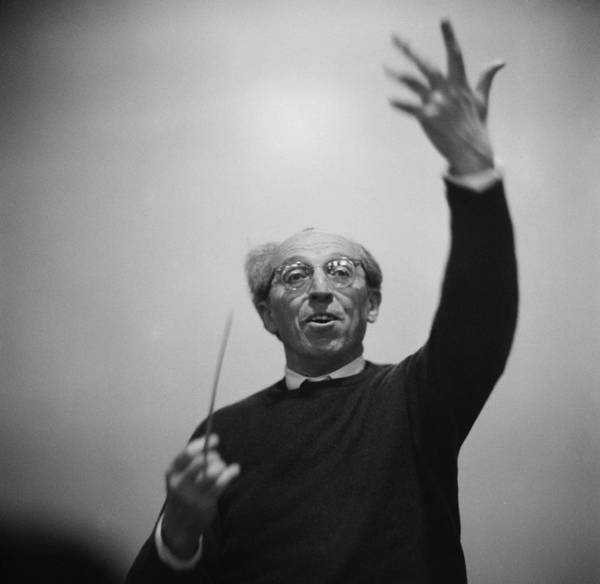 Photograph - Copland Conducting by Erich Auerbach