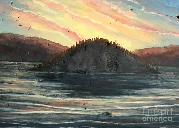 Wall Art - Painting - Copper Island Light Show by Joey Nash