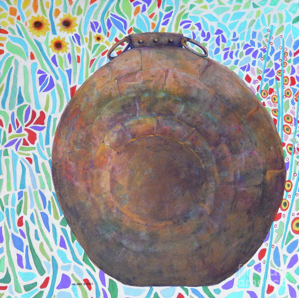 Wall Art - Painting - Copper Pot by Sharon Nelson-Bianco