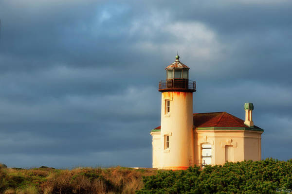 Photograph - Coquille River Lighthouse  by Dee Browning