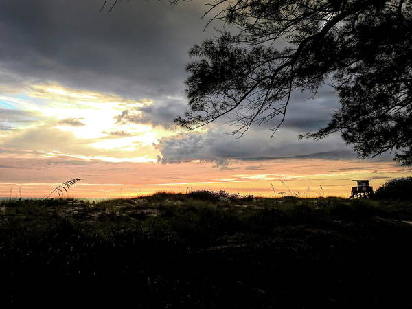 Photograph - Coquina Beach At Sunset by Robert Stanhope