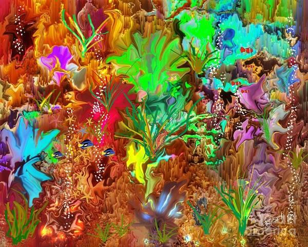 Digital Art - Coral Acquariam  by Rob Mandell