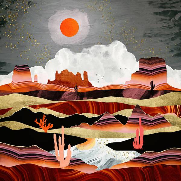 Wall Art - Digital Art - Coral Desert Lake by Spacefrog Designs