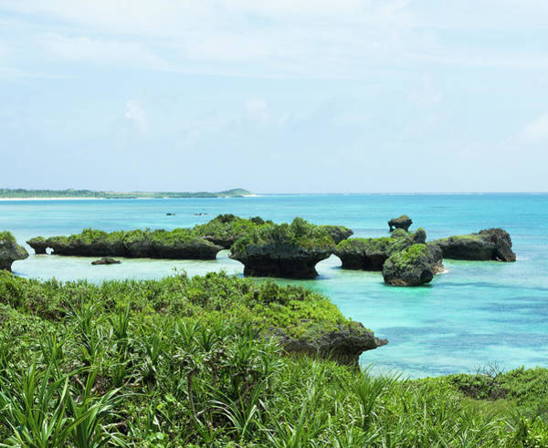 Okinawa Photograph - Coral Rocks And Clear Blue Tropical by Ippei Naoi